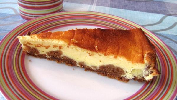 tarte fromage blanc et spéculoos